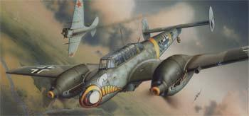plastic model planes,model airplane,1/48 Bf110E WWII German Heavy Fighter (Profi-Pack Plastic Kit) (Re-Issue)