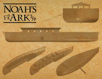 plastic model ships,plastic model ship,Noah's Ark in Cubit Scale -- Plastic Model Commercial Ship Kit -- 1/350 Scale -- #11316