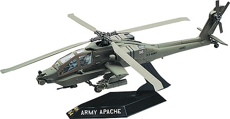 model airplane,plastic model,Apache Helicopter -- Snap Tite Plastic Model Aircraft Kit -- 1/72 Scale -- #851183