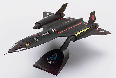 plastic model,model airplane,SR-71A Blackbird -- Snap Tite Plastic Model Aircraft Kit -- 1/110 Scale -- #851187