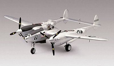 plastic model,model airplane,P-38J Lightning -- Plastic Model Airplane Kit -- 1/48 Scale -- #855479