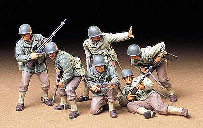 US Army Assault Infantry Soldiers -- Plastic Model Military Figure Kit -- 1/35 Scale -- #35192