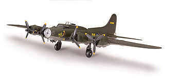 plastic model,model airplane,B-17 Flying Fortress -- Snap Tite Plastic Model Aircraft Kit -- 1/100 Scale -- #890003
