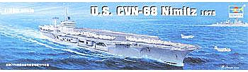 USS Nimitz CVN68 1975 Aircraft Carrier -- Plastic Model Military Ship Kit -- 1/350 Scale -- #05605